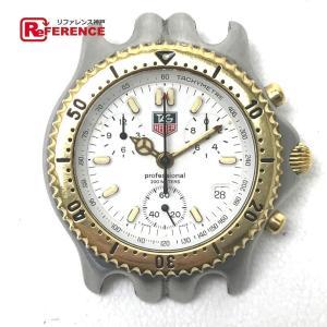 TAGHEUER タグホイヤー セルシリーズ クロノグラフ プロフェッショナル200M メンズ腕時計 SS×GP クォーツ CG1120-0 【中古】 KK|reference