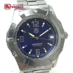 TAG HEUER タグホイヤー プロフェッショナル200M メンズ腕時計 SS クオーツ ブルー文字盤 中古|reference
