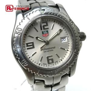TAG HEUER タグホイヤー WT1212  リンク プロフェッショナル デイト 小物 腕時計 シルバー メンズ 【中古】 reference