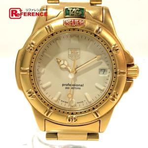 TAG HEUER タグホイヤー 994.713K 4000シリーズ ボーイズ腕時計 デイト 腕時計 ゴールド メンズ 【中古】 reference