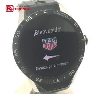 TAG HEUER タグホイヤー SAR8A80.FT6045 コネクテッド スマートウォッチ アンドロイド搭載 腕時計 シルバー×ブラック メンズ 【中古】|reference
