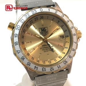 TAG HEUER タグホイヤー 895.413 エアラインGMT  デイト プロフェッショナル 腕時計 シルバー メンズ 【中古】|reference