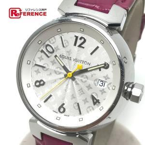 LOUIS VUITTON ルイ・ヴィトン Q1313 タンブール ホログラム 腕時計 シルバー レディース 【中古】|reference