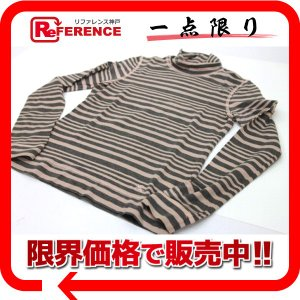 BURBERRY バーバリー ボーダー ロングTシャツ ピンク×グレー 中古|reference