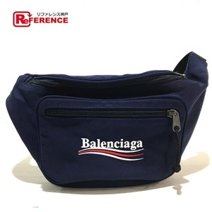BALENCIAGA バレンシアガ 482389 エクスプローラー ウエストバッグ ベルトバッグ ボディバッグ ネイビー系 ユニセックス  未使用【中古】 reference