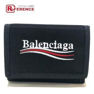 BALENCIAGA バレンシアガ 5074819WB25 エクスプローラー スクエア ロゴ 三つ折り財布(小銭入れあり) ブラック メンズ  未使用【中古】|reference