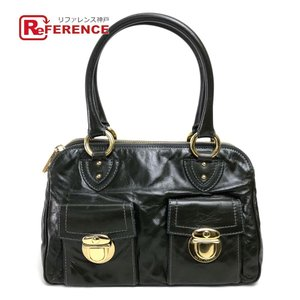 MARC JACOBS マークジェイコブス レザー ハンドバッグ ダークカーキ 美品 中古 SALE reference