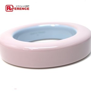 HERMES エルメス ベトナム産 限定 漆塗り バングルブレスレット ライトパープル×ライトブルー 未使用|reference