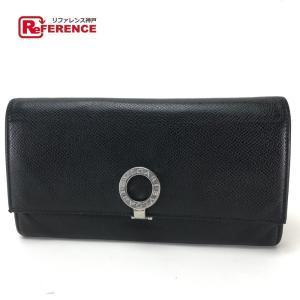 BVLGARI ブルガリ ロゴクリップ  長財布(小銭入れあり) ブラック レディース 【中古】 reference