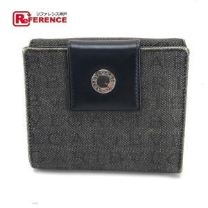 BVLGARI ブルガリ ロゴマニア メンズ レディース 二つ折り財布(小銭入れあり) ブラック系 レディース 【中古】 reference