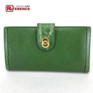 BVLGARI ブルガリ ブルガリブルガリ Wリング メンズ レディース 長財布(小銭入れあり) グリーン レディース 【中古】|reference