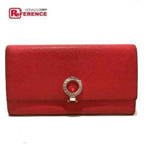 BVLGARI ブルガリ 37681 ロゴクリップ ブルガリ ブルガリ 二つ折り財布(小銭入れあり) レッド レディース 【中古】|reference