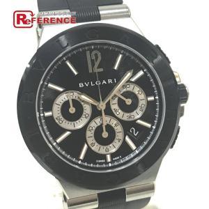 BVLGARI ブルガリ DG42SCCH クロノグラフ メンズ腕時計 腕時計 ブラック×シルバー メンズ 【中古】 reference
