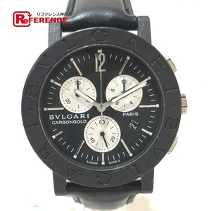 BVLGARI ブルガリ BB38CLCH パリ限定 クロノグラフ 腕時計 ブラック メンズ 【中古】|reference