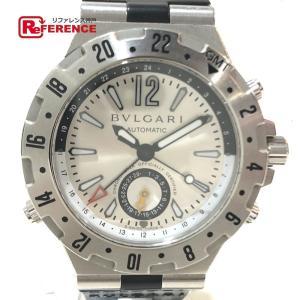 BVLGARI ブルガリ GMT40S ディアゴノ GMT(3タイムゾーン) 腕時計 シルバー メンズ 【中古】|reference