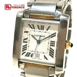 CARTIER カルティエ W51005Q4 コンビ  デイト メンズ腕時計 腕時計 イエローゴールド×シルバー メンズ 【中古】|reference