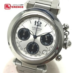 CARTIER カルティエ W31048M7 パシャC クロノグラフ オートマチック 腕時計 シルバー メンズ 【中古】|reference