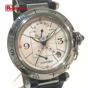 CARTIER カルティエ W3103755 パシャGMT パワーリザーブ オートマチック 腕時計 シルバー メンズ 【中古】|reference