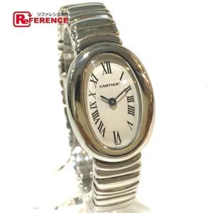CARTIER カルティエ W15189L2 ミニ ベニュワール 金属ベルト 腕時計 ホワイトゴールド レディース 【中古】|reference