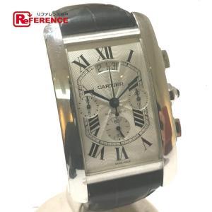 CARTIER カルティエ W2609456 タンクアメリカン  クロノグラフ オートマチック デイデイト 腕時計 ホワイトゴールド メンズ 【中古】|reference