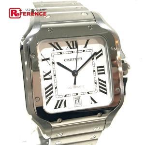 CARTIER カルティエ WSSA0009 サントス・ドゥ・カルティエ LM オートマチック 腕時計 シルバー メンズ  新品同様【中古】|reference