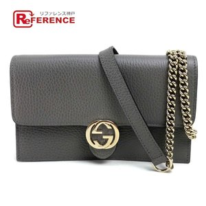 GUCCI グッチ 510314 GGロゴ 財布バッグ ショルダーバッグ グレー レディース  未使用【中古】|reference