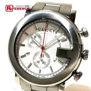 cf4d72412fb8 GUCCI グッチ YA101339 G-クロノ 101M デイト 腕時計 シルバー メンズ 【中古】