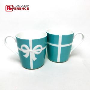 TIFFANY&Co. ティファニー  ペア 食器 コップ リボン ティファニー ブルー ボ...