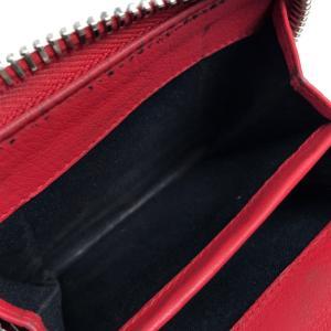 BALENCIAGA バレンシアガ 371662 ペーパー ビルフォールド メンズ レディース 二つ折り財布(小銭入れあり) レッド ユニセックス 【中古】|reference|03