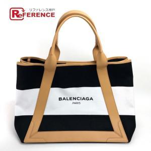 BALENCIAGA バレンシアガ 339936 ネイビー カバ M ラージサイズ メンズ レディース ショルダーバッグ ホワイト ユニセックス  未使用【中古】|reference