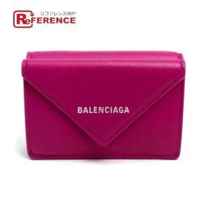 BALENCIAGA バレンシアガ 391446 ペーパー ミニ ウォレット メンズ レディース 三つ折り財布(小銭入れあり) ピンク レディース 現行品  未使用【中古】|reference