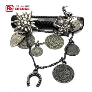 PRADA プラダ コイン メダル チェーン ブローチ ブラック レディース 【中古】|reference