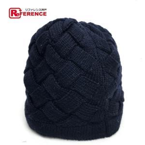 BOTTEGA VENETA ボッテガヴェネタ メンズ レディース 帽子 ダークネイビー ユニセックス 【中古】|reference