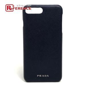 PRADA プラダ iPhoneケース ネイビー 【中古】|reference