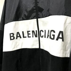 BALENCIAGA バレンシアガ 529213 TBQ03 タグ有 ロゴ ナイロンジャケット ブラック×ホワイト レディース 【中古】|reference|02