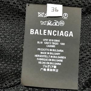 BALENCIAGA バレンシアガ 529213 TBQ03 タグ有 ロゴ ナイロンジャケット ブラック×ホワイト レディース 【中古】|reference|05