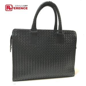 BOTTEGA VENETA ボッテガヴェネタ 194669 ビジネスアイテム イントレチャート ビジネスバッグ ブラック メンズ 【中古】|reference