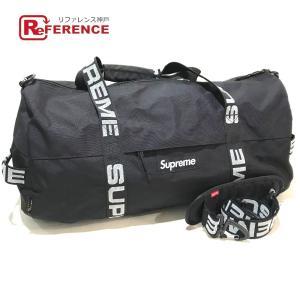 Supreme シュプリーム ラージダッフルバッグ ロゴ 18SS Large Duffle Bag ボストンバッグ ブラック メンズ  新品同様【中古】|reference