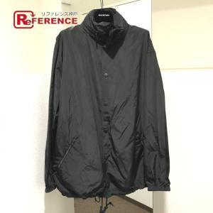 BALENCIAGA バレンシアガ 571437 フード付き ゴシックロゴ 刺繍 ブルゾンジャケット ブラック メンズ  未使用【中古】|reference