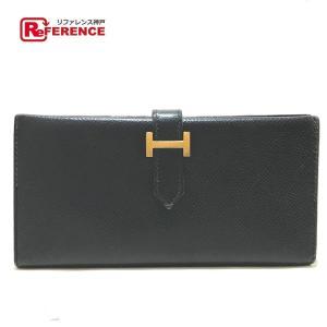 HERMES エルメス クラシック ベアン 二つ折り財布(小銭入れあり) ブラック レディース 【中古】 reference