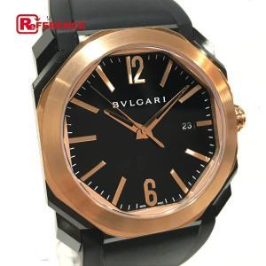 BVLGARI ブルガリ BGO41BBSPGVD オクト ウルトラネロ デイト 腕時計 ピンクゴールド メンズ  新品同様【中古】|reference