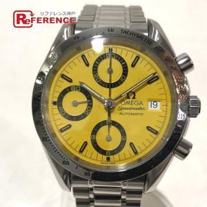 OMEGA オメガ 3511.12 シューマッハ クロノグラフ 腕時計 シルバー/イエロー文字盤 メンズ 【中古】 reference