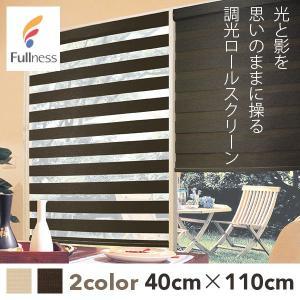調光ロールスクリーン ゼブライト 規格サイズ 40×110cm (メーカー別送品)|reform-myhome