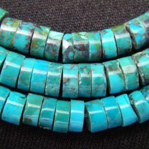 ターコイズ(トルコ石)・チューブ小・1連(40cm)【天然石ビーズ】|regalo-gemstone