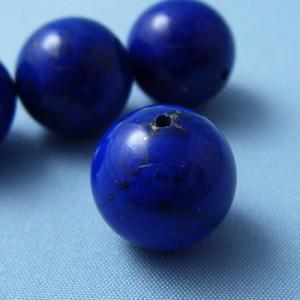 ラピスラズリ ラピス(瑠璃石・青金石)・グレードA・丸(ラウンド)12mm1個【天然石ビーズ】 regalo-gemstone