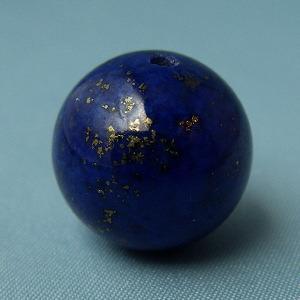 ラピスラズリ ラピス(瑠璃石)・グレードA・丸(ラウンド)14mm・1個【天然石ビーズ】 regalo-gemstone