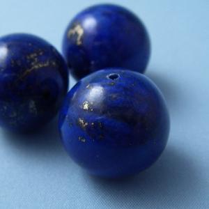 ラピスラズリ ラピス(瑠璃石・青金石)・グレードA・丸(ラウンド)16mm1個【天然石ビーズ】 regalo-gemstone