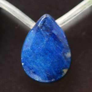 ラピスラズリ・平しずく18mm ・1個 【天然石ビーズ】 regalo-gemstone