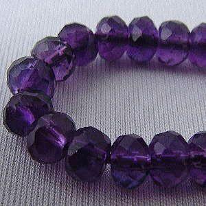 アメジスト(紫水晶)・ボタンカット6mm・1個 天然石ビーズ|regalo-gemstone