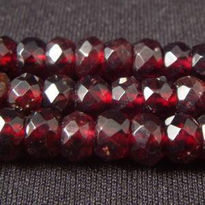 ガーネット(石榴石)・ボタンカット6mm・1個 天然石ビーズ|regalo-gemstone